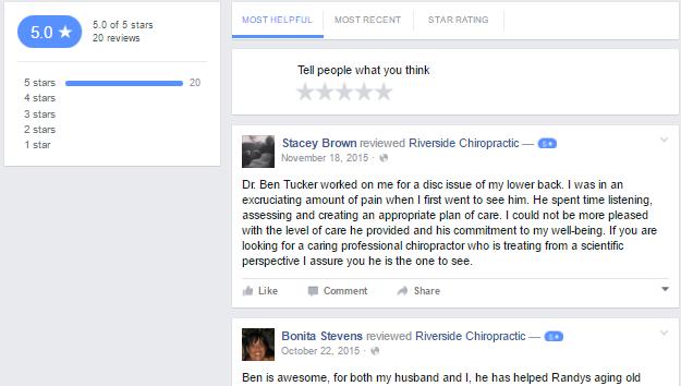 facebook reviews screenshot